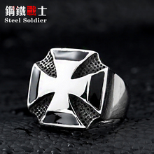 Steel soldier Jewelry German 1939 Iron Cross Ring Super Fashion 2015 Russian USA UK US size - steel unique Store store