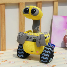30cm free shipping super cute soft plush yellow Wall-E PROPER toy, stuffed animals, graduation&birthday gift for children,1pc