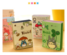 Cute Rilakkuma 6 fold N time posted sticky notes Post it notepad Melody totoro paper stationery Office School supplies