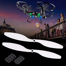 1 Pair 1045 Propeller 10x 4.5'' CW/ CCW For Quadcopter Multirotor Drone White remote helicopter radio controlled