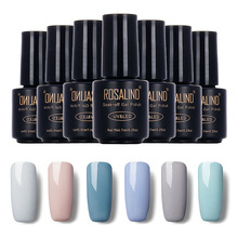 ROSALIND High Quality 7ML 18 Gray Colors Nail Gel Polish Soak Off Gel Long Lasting UV Gel Colorful Gel Polish