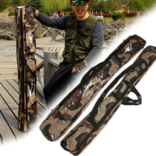 NEW 80/120cm Portable Fishing Rod Bag Multifunctional Camouflage Double Layer Outdoor Fishing Bag Tackle(China)