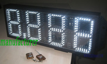 Outdoor white color 8.889 gas price sign 8inch 4digits white led gas price sign free shipping outdoor usage(China)