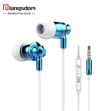 Langsdom M300 Heavy Bass Earphone Metal Computer PC 3.5MM Noise Isolation Ergonimic Design In Ear Earphone Suitable For Iphone