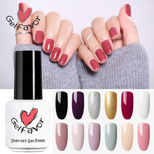 Gelfavor Soak-Off UV LEDLampBottle of White Brush Comestic Nail Lacquer Primer Nail Gel Varnish Fashion within Girl(China)
