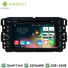 "Quad Core Android 5.1.1 7"" 1024*600 FM Car DVD Player Radio Audio Stereo For GMC Yukon Tahoe Chevrolet Express Traverse Suburban"