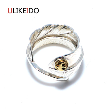 100% Pure 925 Sterling Silver Jewelry Takahashi Goros Rings Eagle Feathers Opening Ring For Men And Women Birthday Gift 168