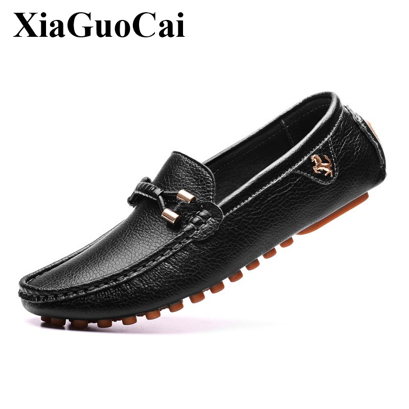 Spring New Men Shoes Black Moccasin-gommino Shoes Genuine Leather Men Casual Loafers Flats Slip-ons Tod Shoes Men H121 35<br>