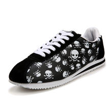 2017 Summer Luxury Tenis Brand Casual Shoes Light Originality Skull Heads Print Cortez Hip Hop Flat Shoes Cheap Krasovki(China)
