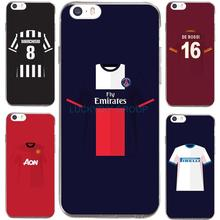 For PSG MUFC Juventus Football Club Jersey For IPhone7 7Plus 4 5S SE 6 6S Case Transparent Silicone soft slim Tpu Phone Cover