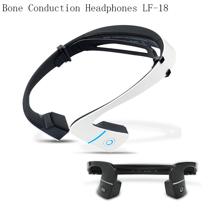 Drop shipping black/white S.Wear LF-18 wireless Bluetooth Hands-free Earphones Neck-strap NFC Bone Conduction headphones stocked<br>