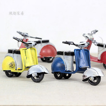 Free shipping! Antique Miniature Motorcycle Model Retro Motobike Toy Cute Design Gift Home Decoration 0226
