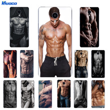 Custom DIY Phone Case for Meizu Pro 7 U10 Shell for Meizu MX6 Pro Coque for M3 MAX Cover for M3X Soft TPU Muscle Man Printing