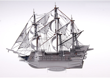 Handcrafted Nautical Decor The Flying Dutchman Pirate Ship - 3D metal scale model puzzle, DIY metallic 3D puzzle