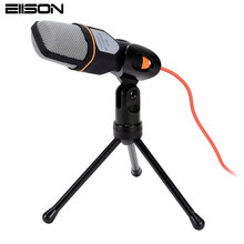 Hot Professional Microphone Condenser with Clip Studio Mikrafon Stand Skype for Computer Chat Pc 1 mikrafon 320 microfone SF-666