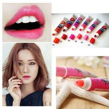 6Pcs/lot Waterproof Peel Off Lipstick Tattoo Magic Color Mask Tint lips Gloss Long Lasting Lipstick Women Balm Cosmetic Romantic