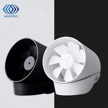 DC 5V White Black Hanging Desk Stand USB Fan Metal Quiet Touch Switch Mute Cooling Mini USB Charge Fan(China)