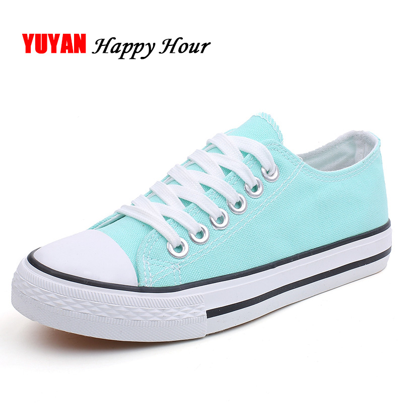 New 2019 Spring Canvas Shoes Women Fashion Sneakers Low top Breathable Students Shoes Women's Sneakers Flat Band Footwear ZH2767(China)