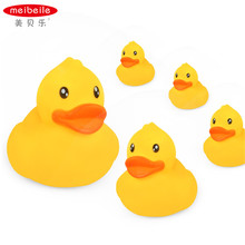 meibeile Baby Bathtub Bath Toys Ducks for Infant Kids 5-Pack in net bag non-toxic floatin water games(China)