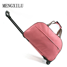 Luggage Metal Trolley Travel Bags Suitcase on wheels valise bagages roulettes Hand Trolley Unisex Bag Sac Board Chassis Package(China)