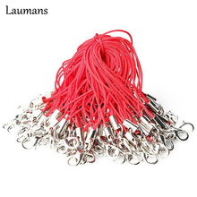 Laumans 50Pcs/lot Hot Cell Phone Lanyard Cords Strap Lariat Mobile Lobster Clasp for USB flash disk mp3 mp4 Camera Random Color