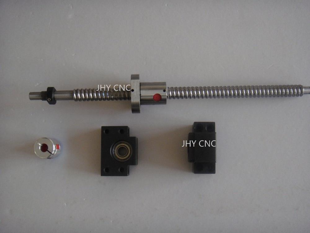 1antibacklash ballscrew ball screw 1605-500mm-C7+BK12 BF12 + coupling for CNC<br>