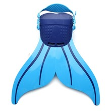Adjustable Wave Fins Kid Free Swimming Fins Training Flipper Mermaid Swim Fin Tail Diving Foot Flipper Tail Monofin