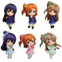 GSC Love Live Uniform Figras 6.5cm 6pcs/lot Kawaii Tiny Lovelive Action Figure Model Nendoroid Collection Toys Gift