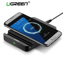 Ugreen Original Qi Wireless Charger for iPhone 8 Charging Pad with Dual USB Charging Adapter for Samsung Galaxy S7/S6/Edge/Plus(China)