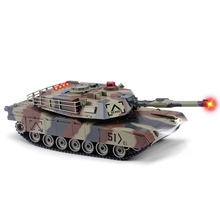 HUANQI 549 - 02 RC Tank 2.4G 1:24 Scale M1A2 Simulation RC Battle Tank Toy