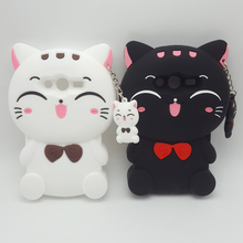 3D Cartoon Cat Soft Silicone Case For Samsung Galaxy Ace 4 Lite G313 G313H Ace 4 Neo G318H Rubber Back Cover Skin Phone Cases