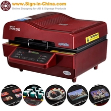 220V 3D Vacuum Sublimation Heat Press Machine China for T-shirt, pillowcase, tile, mouse pad, glass, crystal, plate, mug