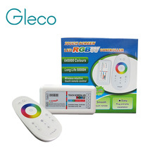 DC12-24V 24A 2.4G RF Wireless remote control Touch screen RGBW led controller for RGBW led strip bulb downlight(China)
