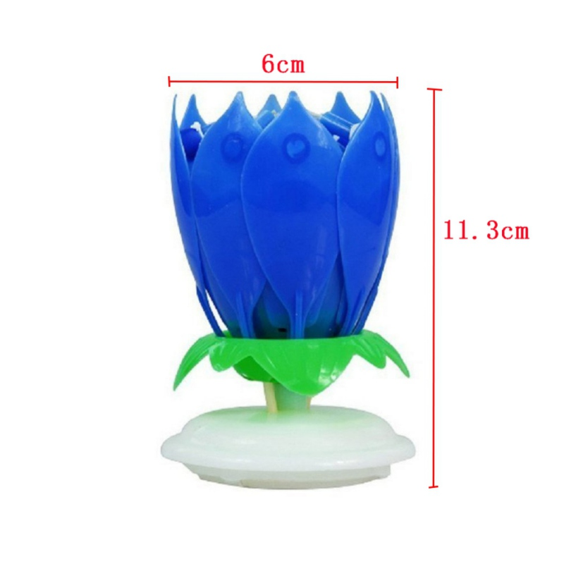 2017 New Flat-bottomed Music Rotating lights Double-layer Festival Light With Birthday Candle Used For Birthday Care