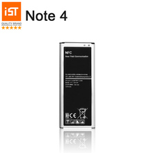 100% IST Original Mobile Phone Battery For Samsung Galaxy Note 4 N910 N910C N910A N910V 3220mAh Built-in NFC Replacement Battery