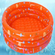 Inflatable baby swimming pool eco-friendly PVC portable children's bath children's mini round 80 * 28cm