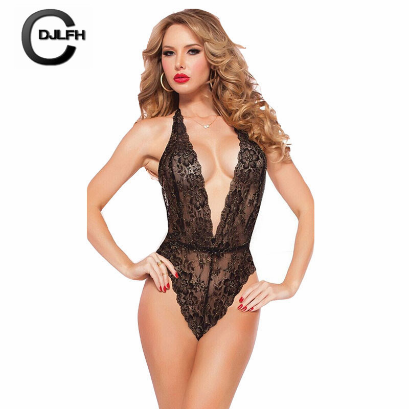 CDJLFH 2018 Newest Women  Bustiers Lace Tops Shirt Underwear One-piece Corset Women Bustiers Intimates Bodysuit Babydoll
