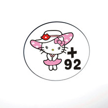 Cartoon Hello Kitty Car Accessories Funny Fuel Cap Sticker and Decal for Ford Focus Vw Skoda Polo Golf Opel Smart Fortwo Forfour