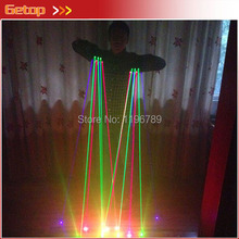 RGB Laser Glove for Stage Show Party Decorations DJ Club Show Laser Gloves with 7pcs lasers (2pcs Violet +3pcs Red +2pcs Green)