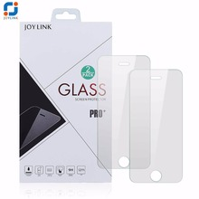 Joylink 2PCS 9h Hardness Explosion Proof fingerprint-proof anti-scratch screen protector Tempered Glass Film for iphone 5 5S SE(China)