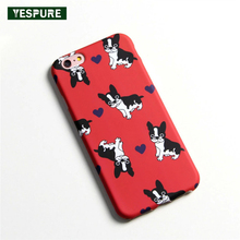 YESPURE Lovely Dog Carcasas Fundas for Iphone 7plus Mujer Cheap Cute Cell Phone Case Accessories Black Soft TelePhone Full Cover