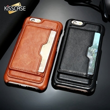 KISSCASE Fashion Case For iPhone 7 6 Plus Case Luxury PU Leather Phone Bag Cases For iPhone 6 6s 7 Plus Cover Card Holder Coque