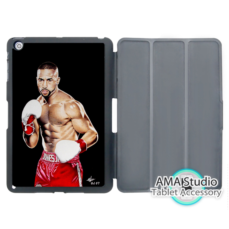 Roy Jones Jr Sport Boxer Case For Apple iPad Mini 1 2 3 4 Air Pro 9.7 Stand Smart Folio Cover(China (Mainland))