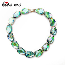 Amazing Party Dazzle Color Imitation Gems Collar Maxi Necklace Fashion Jewelry Factory Wholesale