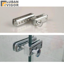 Frameless shower room sliding door Lock/bolt/Doorstop,for glass thick 8-10mm,or Screen partition door,Gap 25mm,Glass hardware