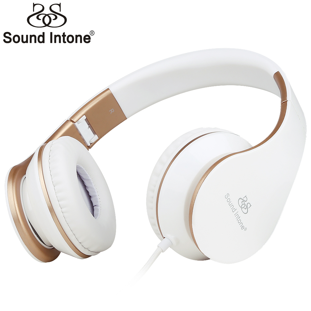 Headphones, Sound Intone Foldable Headphones with Microphone and Volume Control, On-ear Wired Headset for iphone and Android <br><br>Aliexpress