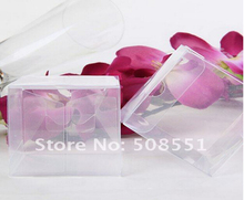 Free Shipping Transparent Waterproof Clear PVC boxes PP Boxes For Party Gift 12pcs