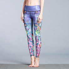2017 New Print Submarine World Yoga Pants Women Dry Fit Leggings Lady Fitness Gym Trainning Running Tight Sport Female Trousers