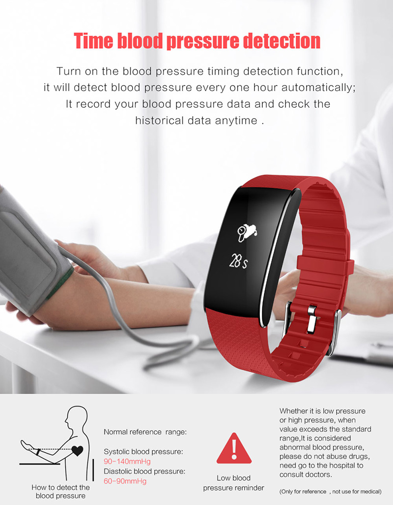 A86 Smartband Heart Rate Blood Pressure Watches Pulse Monitor Smart Band Fitness Bracelet Activity Tracker Wristband Pedometer 10