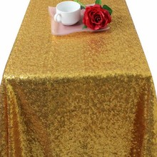 Glitter Gold Sequin Tablecloth 60 Inch By 102 Inch Table Cloth Rectangular  Table Cloth for Wedding Party Decoration